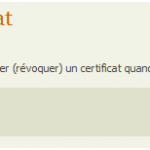 Revocation du Certificat