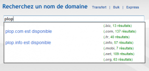 OVH: Domain Search