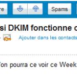 Yahoo! DKIM vérifié
